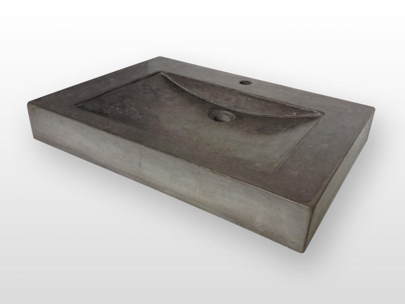 Wastafel van beton_Productfoto_wastafel model half rond_antraciet_kg