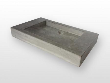 Wastafel van beton voor liefhebbers van een strakke badkamer