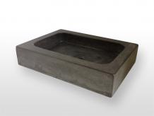 Wastafel Van Beton : Robuuste wastafel van beton met speels accent
